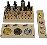 Aventik classic wood Fly Tying Tool Caddy, designed by fly tying Specialist, organize in better order of your tools such as scissor, bobbin, whip finisher, glue, hackle pliers, threader and other tinny accessories such as hooks and beads. Professiona...