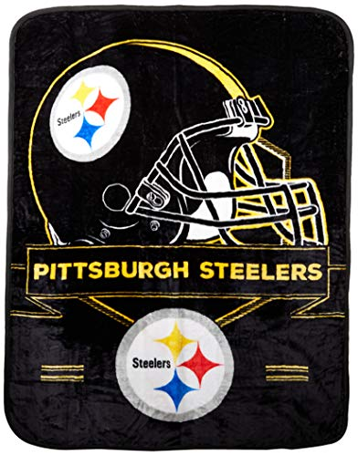 Officially Licensed NFL Pittsburgh Steelers 'Prestige' Plush Raschel Throw Blanket, 60' x 80', Multi Color