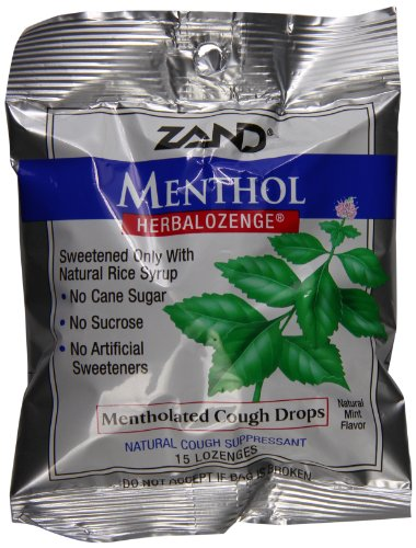 Zand Herbalozenge, Menthol, 15 lozenges (pack of 12)