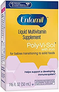 Enfamil Poly-Vi-Sol with Iron Multivitamin Supplement Drops for Infants and Toddlers, 50..