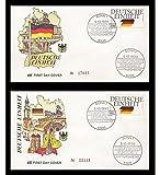 Goldhahn 'Deutsche Einheit BRD Nr. 1477-1478 auf FDC und DDR Komplettausgaben Briefmarken für Sammler