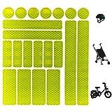 SNOWZAN 21 pegatinas reflectoras para bicicleta, casco, chaqueta, ropa, autoadhesivas, reflectantes, para bicicleta, bicicleta, mochila, coche
