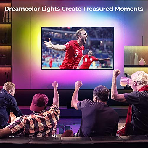 DreamColor LED Strip Lights with APP, Govee 6.56FT/2M USB Light Strip Built-in Digital IC, 5050 RGB Strip Lights, Color Changing with Music Waterproof Led Strip Lights Kit, LED TV Backlight Strip