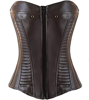 3b1d628eaed Corsets for Women Bustier Top Like Underbust Waist Trainer Leather Design  for Use Fashion Vintage Cincher