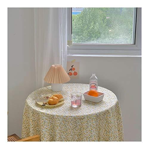 DAHDXD Tischdecken Daisy Tischtuch Baumwolltuch Fotografie Kulissen Esstisch Abdeckung Chic Picknick Tischdecke (Color : Blue, Size : 150x150cm)