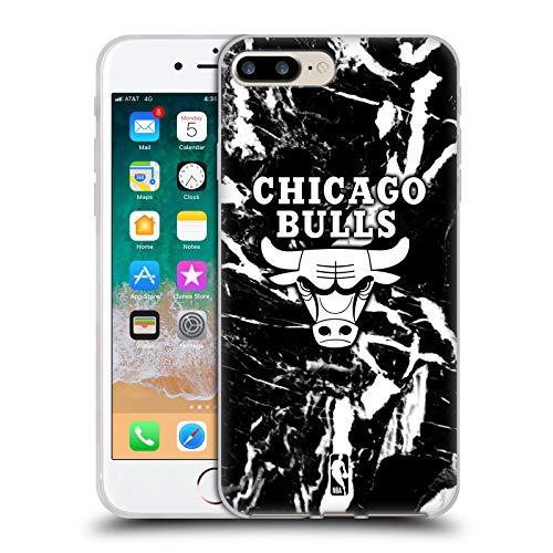 Head Case Designs Licenciado Oficialmente NBA Mármol 2019/20 Chicago Bulls Carcasa de Gel de Silicona Compatible con Apple iPhone 7 Plus/iPhone 8 Plus