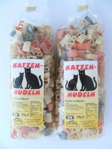 Pfalznudel Streuteile Katzen aus Nudelteig, 2X 250 g, Nudeln, Pasta, Dekoration, Delikatesse, Tiere, Katze