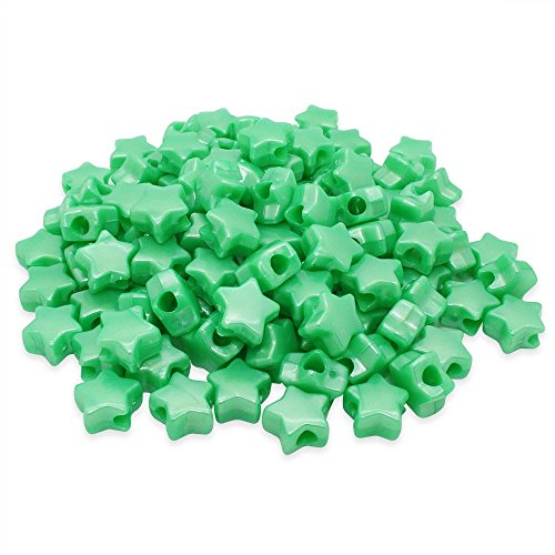Beads Unlimited Badkuip Pearl Kunststof Star Pony, groen, 13 mm
