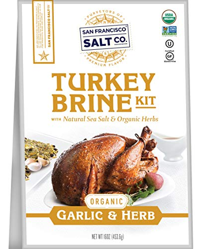 Organic Turkey Brine Kit - 16 oz. Garlic & Organic Herb Blend by San Francisco Salt Company