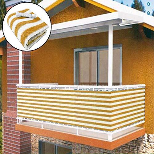 zimo - Protección Visual para Balcones (90 x 460 cm), Amarillo