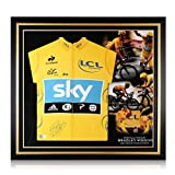 exclusivememorabilia.com Maillot Amarillo Tour de France 2012 Firmado por Bradley Wiggins. Marco Premium