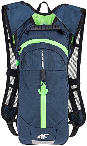 4F Rucksack für Radfahrer mit reflektierende Elemente und Ventilation Touristikrucksack 8L Touristik Freizeit Fahrradrucksack PCR001 SS17 (dunkelblau,)
