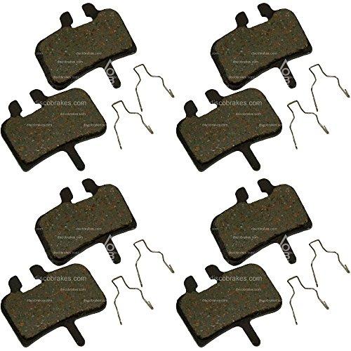 Plaquettes de frein pour Hayes bremesen. belage 4 paires pour Stroker Ryde, Trail, Prime, El Camino + +. Céramique Pro ou dur, fritté, Semi métallisé, Kevlar, Mélange