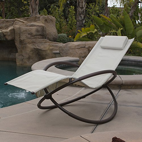 Belleze Orbital Lounger Chair Garden Patio Portable Pool...