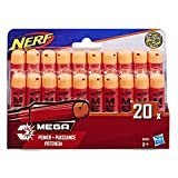 Nerf - Pack de 20 Flechettes Nerf Mega Officielles