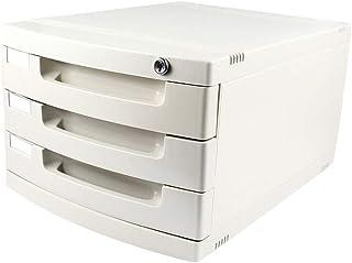 KANJJ-YU Plastique cosmétique bureau tiroir, Rangement Organisateur tiroir verrouillable Sorter A4 Boîte de bureau (4 couc...