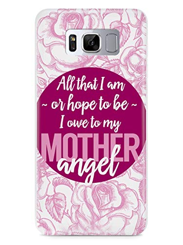 Inspired Cases - 3D Textured Galaxy S9 Case - Rubber Bumper Cover - Protective Phone Case for Samsung Galaxy S9 - Mother Angel - Abraham Lincoln Quote