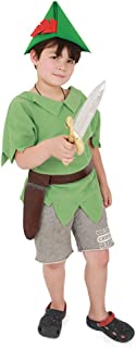 Kids Peter Pan Halloween Cosplay Costume with Hat and Sword