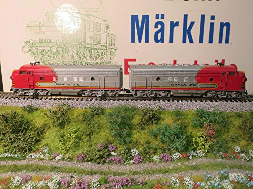 MARKLIN HO Vintage All Heavy Metal USA Santa FE EMD-F7 Locomotive+Dummy 3060+4060