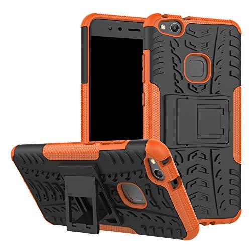 LFDZ Huawei P10 Lite Custodia, Resistente alle Cadute Armatura Robusta Custodia Shockproof Protective Case Cover per Huawei P10 Lite Smartphone (con 4in1 Regalo impacchettato),Arancione