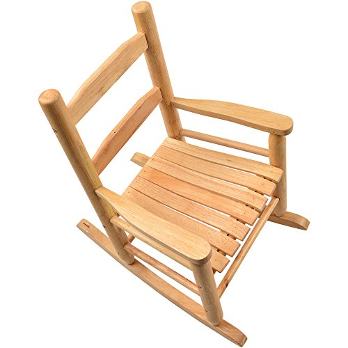 Constructive Playthings-MTC-397 Hardwood Rocking Chair, Wooden Stackable Seat for Children, 12 Inches High