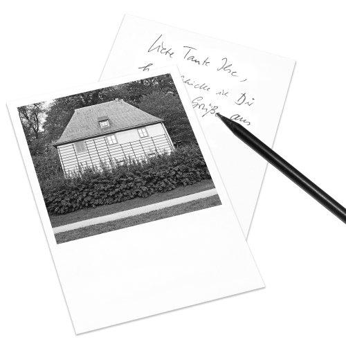10er-Set COGNOSCO Postkarte Weimar im Polaroid-Look - Motiv: Goethes Gartenhaus