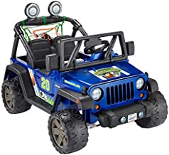 Fisher-Price Power Wheels Gameday Jeep Wrangler Battery-Powered Ride-On Vehicle