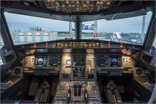 Póster 150 x 100 cm: Airbus A320 Cockpit de Ulrich Beinert - impresión artística, Nuevo póster artístico