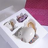 Conjunto de bule de chá japonês com desenho animado A Bela e a Fera, conjunto de chá de café Cogsworth, bule de chá Mrs Potts, conjunto de chá para amigo, presente de Natal