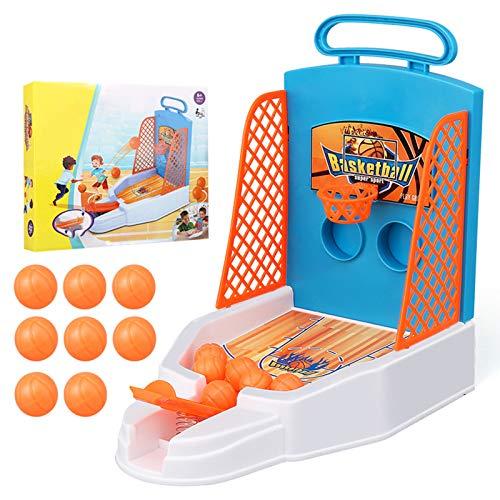 Sttoce Desktop-Spiel, Finger Basketball Schießspiel Spielzeug, Desktop Tisch Basketball Spiele Set, Tabletop Mini Basketball Shooter mit 8 Basketbällen, Fun Sports Neuheit Spielzeug für Kinder