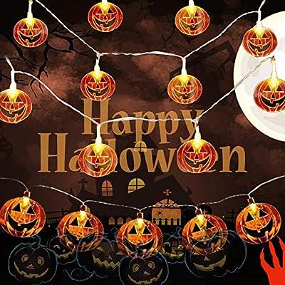 Amazon - 50% Off on Halloween Pumpkin String Lights,Battery Operated Pumpkin Lights