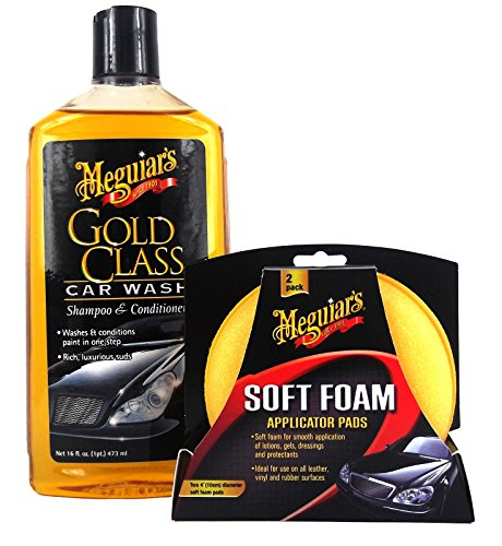 Meguiar's MEGUIARS Gold Class Shampoo & High Tech Polierschwamm