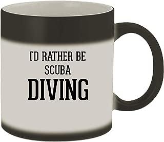 I'd Rather Be SCUBA DIVING - 11oz Ceramic Matte Black Color Changing Mug, Matte Black