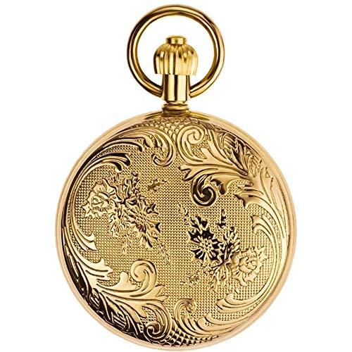 SGSG Reloj de Bolsillo, Cobre, jardín Secreto, Reloj mecánico automático para Hombres...