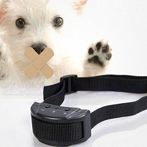 DROHOO Collar de Entrenamiento eléctrico antiladridos sin Tono de ladridos para Perros pequeños, Color Negro
