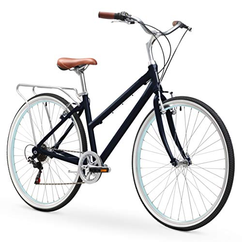 sixthreezero Explore Your Range Women's 7-Speed Hybrid Commuter Bicycle, Navy, 17' Frame/700x38c Wheels