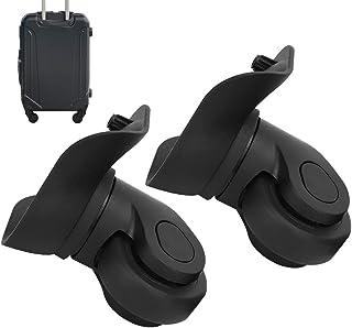 Bagagevervangingswiel, een paar bagagewiel eenvoudig te installeren zwart voor bagage voor koffer