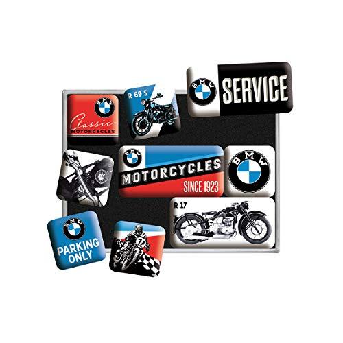 Nostalgic-Art Set di Magneti Vintage BMW Bikes – Regalo per Amanti di Accessori per Auto, Decorazione del Frigorifero, Design nostalgico, 9 Pezzi