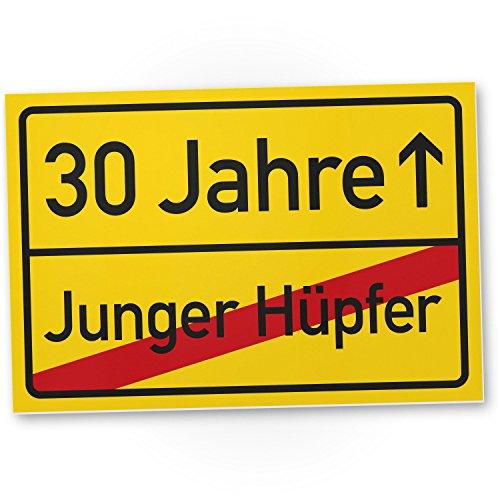 DankeDir! 30 Jahre (Junger Hüpfer), Kunststoff Schild - Geschenk 30. Geburtstag, Geschenkidee Geburtstagsgeschenk Dreißigsten, Geburtstagsdeko/Partydeko/Party Zubehör/Geburtstagskarte