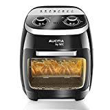 5 in 1 Air Fryer Oven for Fry/Roast/Bake/Grill, 11L Double Layer Oven Fryers with 8 Cooking Presets, 2000W Rapid Air Circulation Technology, 90% Less Fat, Black