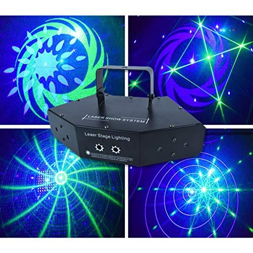 Zphy LED Licht, Ton aktivierten Partei-Licht-LED-Stadiums-Projektor 6 Augenmuster Muster mit Fernbedienung for Outdoor Urlaub Parteien und Geburtstag