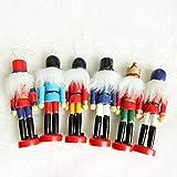 XKMY Juguetes de marionetas de madera, 24 piezas de madera cascanueces soldado miniatura...