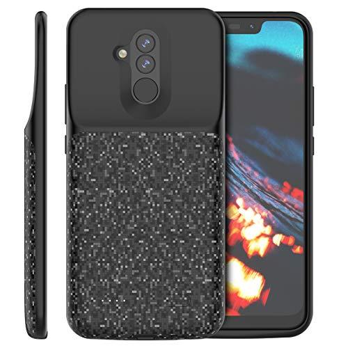 BasicStock Huawei Mate 20 Lite Akku Hülle, 5200mAh [Anti-Rutsch] 150% Ersatz Akku Externe Batterie Akkuhülle Powerbank Schutzhülle Ladegerät Hülle Battery Case für Huawei Mate 20 Lite (Schwarz)