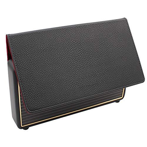 SHEAWA Étui en cuir véritable avec support pour haut-parleur Bluetooth Marshall Stockwell