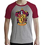 ABYstyle - Harry Potter - Camiseta - Gryffindor - Hombre - Gris y Rojo - Premium (M)