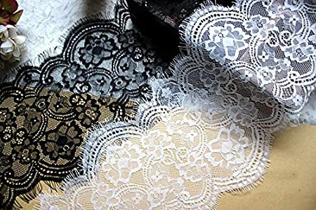 5 meter 16cm 6.29 wide ivory mesh gauze braid fabric embroidery lingerie dress clothes tapes lace trim ribbon B14T1363B20502U