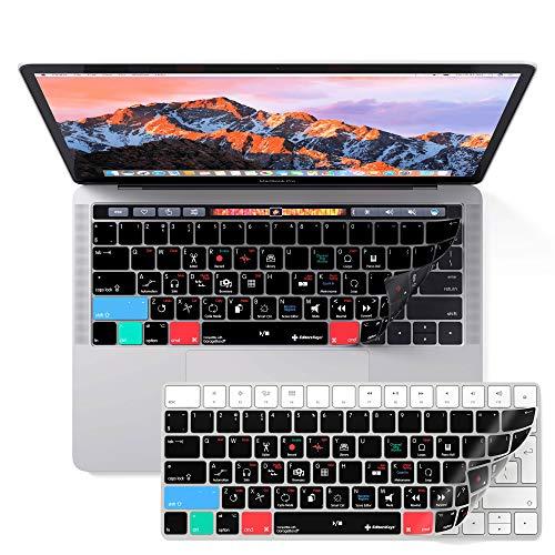 Apple Garageband Keyboard Cover für MacBook Pro mit touchbar 33cm & 38,1cm–Bearbeiten Schneller mit Allen die Shortcuts