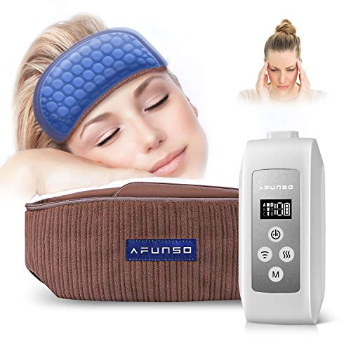 Head Scalp Massager - AFUNSO Scalp Massage Instrument Rechargeable Massager Airbag for Head,Muscles, Leg, Electric Percussion with Portable Design for Deep Relaxation & Stress Relief Great Gift