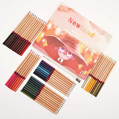 Birthday Gift Watercolor Pencils Set of 48, Presharpened, Triangular-Shaped Colored Pencils for Adults and Kids, For Drawing, Sketching, and Painting, Free Color Color Book, Brush, Sharpner,Gift Card