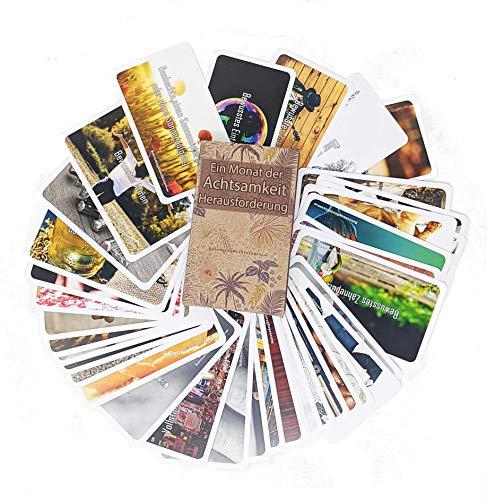 Embracing Mindfulness Achtsamkeit - EIN Monat der Selbstreflexion, Selbsterkenntnis und Achtsamkeit mit dem Kartenset Gönnen Sie Sich eine Auszeit oder verschenken Sie bewusste Momente